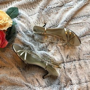 Lauren Ralph Lauren Gold Metallic Sandals Sz 7